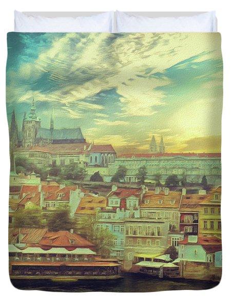 Prague Riverview Duvet Cover