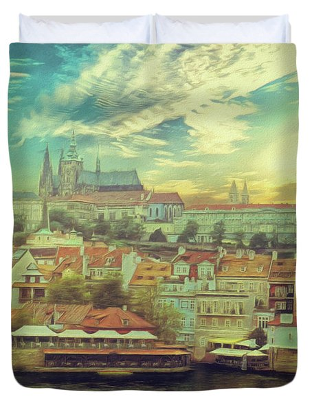 Prague Riverview Duvet Cover