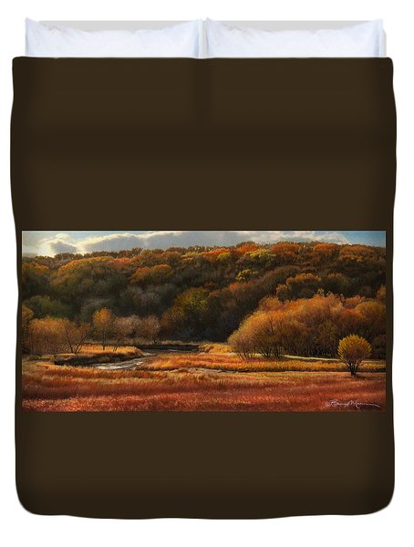 Prairie Autumn Stream No.2 Duvet Cover