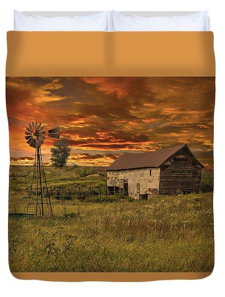 Prairie Barn Duvet Cover