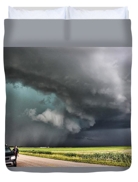 Duvet Cover featuring the photograph Prairie Beast by Ryan Crouse
