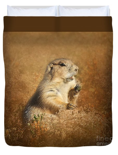 Prairie Dog Conversation Duvet Cover