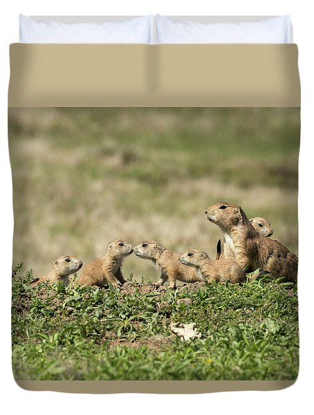 Prairie Dog Family 7270 Duvet Cover