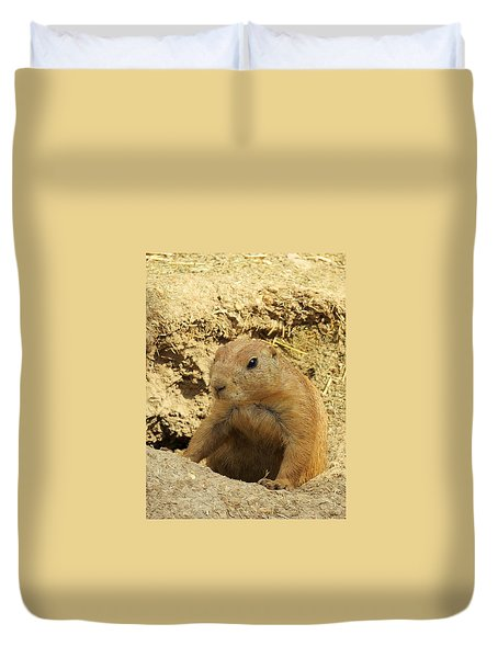 Prairie Dog Peek Duvet Cover