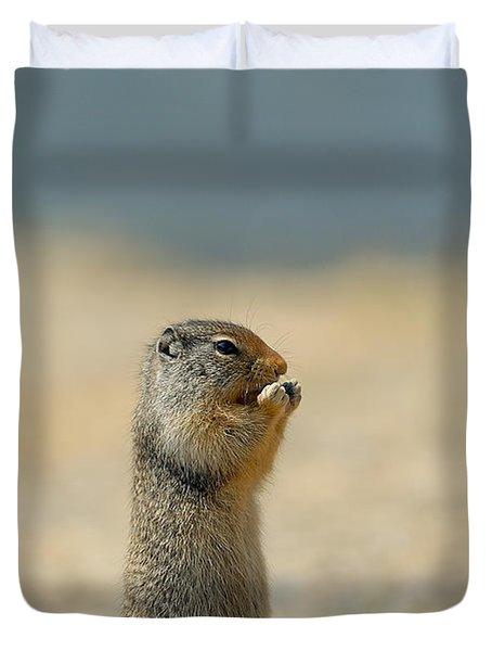 Prairie Dog Duvet Cover by Sebastian Musial