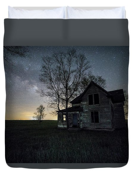 Prairie Gold And Milky Way Duvet Cover by Aaron J Groen