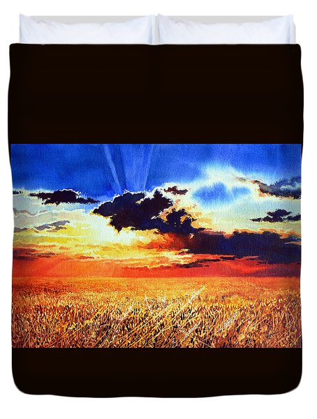 Prairie Gold Duvet Cover by Hanne Lore Koehler