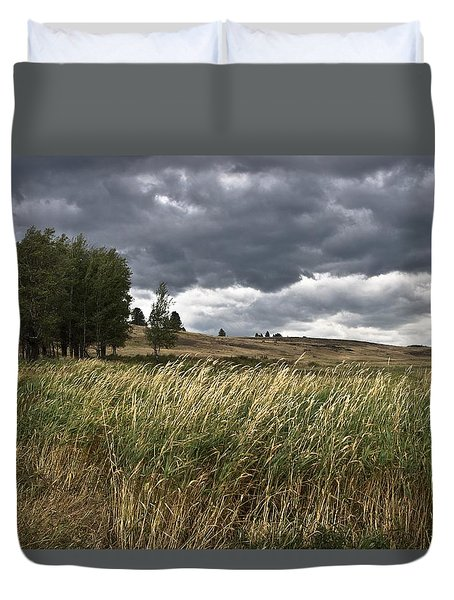 Prairie, Lost Trail Wildlife Refuge Duvet Cover