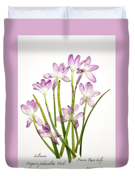 Prairie Rain Lily Duvet Cover