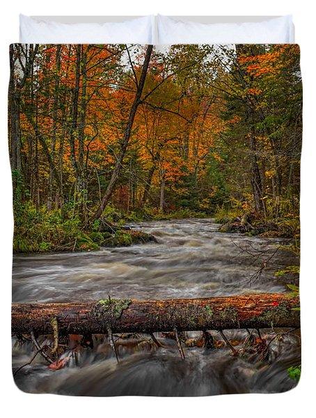 Prairie River Tree Crossing Duvet Cover