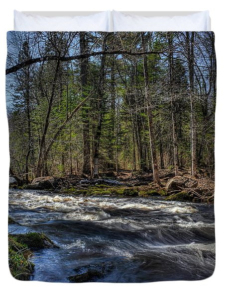 Prairie River White Riffles Duvet Cover