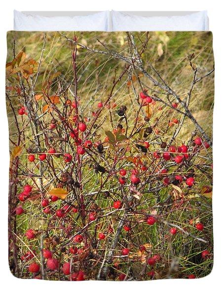 Prairie Rosehips Duvet Cover