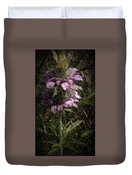 Prairie Weed Flower Duvet Cover by Donna G Smith