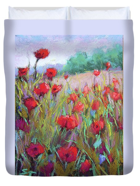 Praising Poppies Duvet Cover