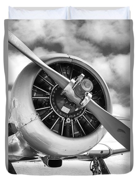 Pratt And Whitney R1340 Wasp Radial Engine Duvet Cover