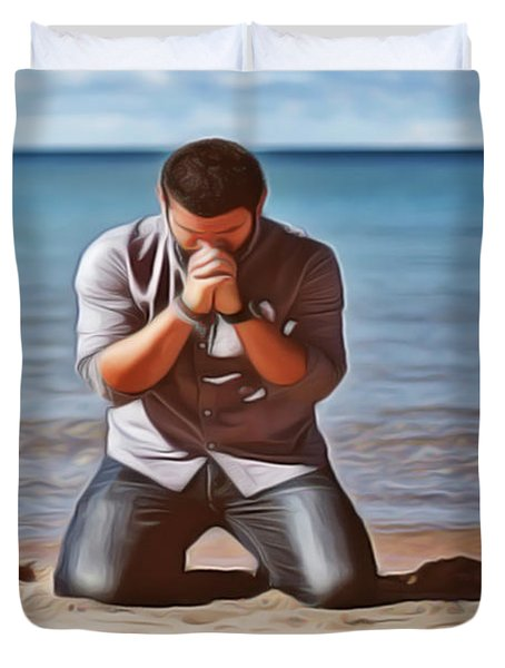 Prayer Duvet Cover