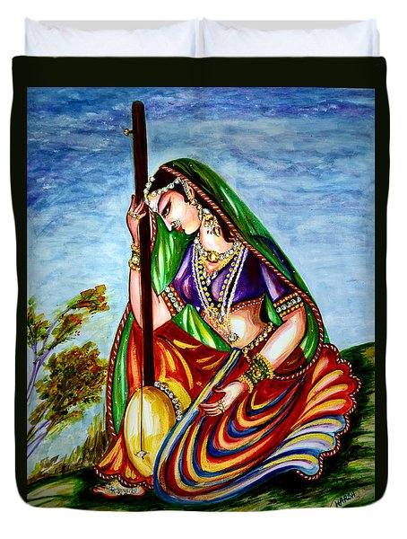 Krishna - Prayer Duvet Cover