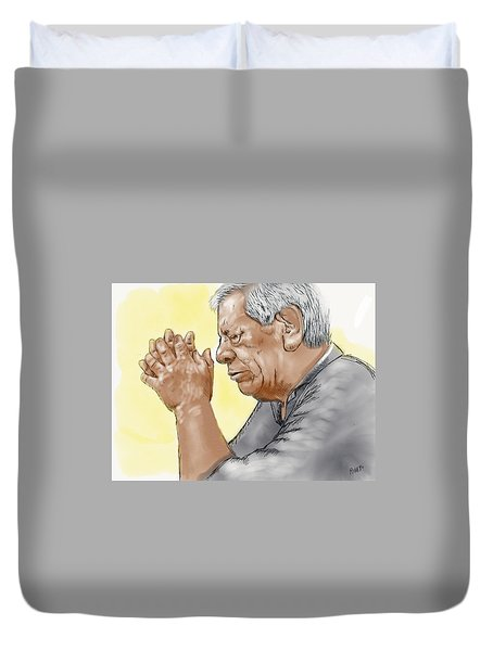 Prayer Of A Righteous Man Duvet Cover