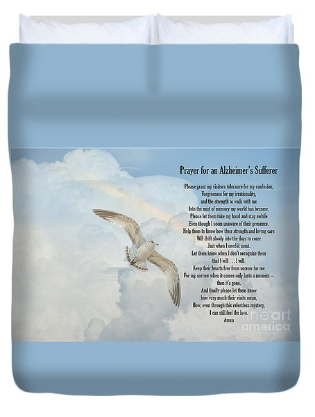 Prayer For An Alzheimer's Sufferer Duvet Cover by Bonnie Barry