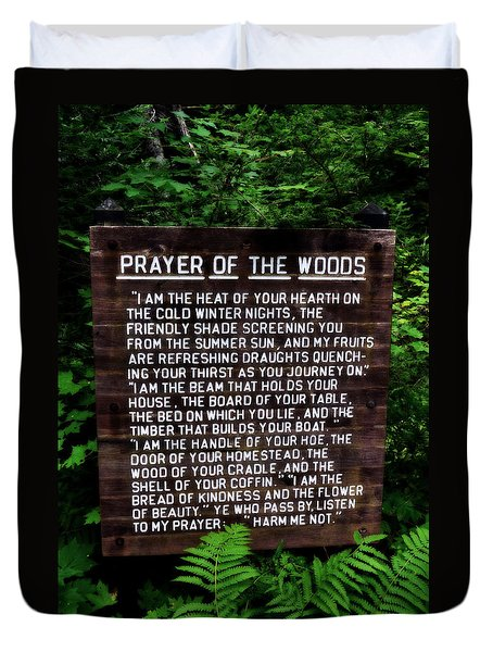 Prayer Of The Woods Duvet Cover