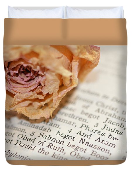 Prayer Duvet Cover by Renie Rutten