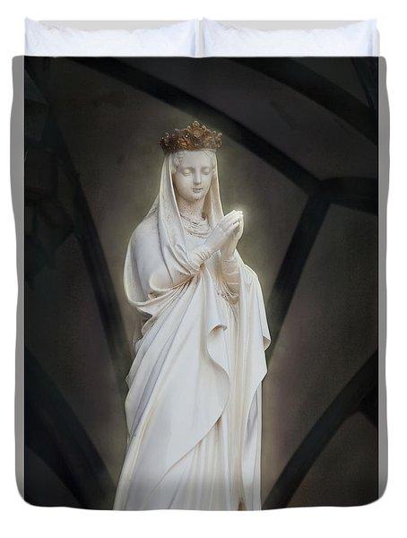 Praying Duvet Cover