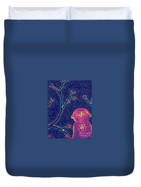 Praying Buddha Duvet Cover