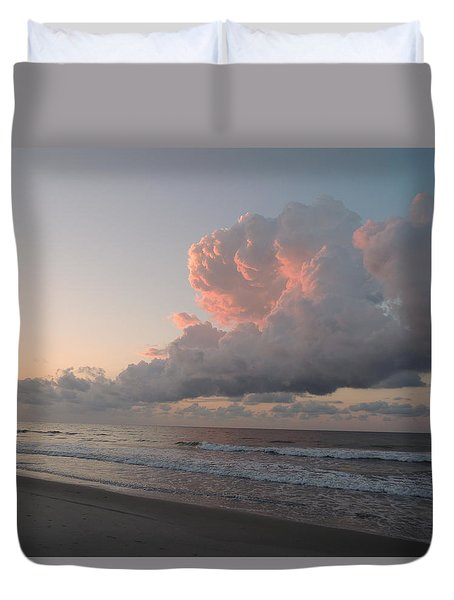 Praying Clouds Duvet Cover