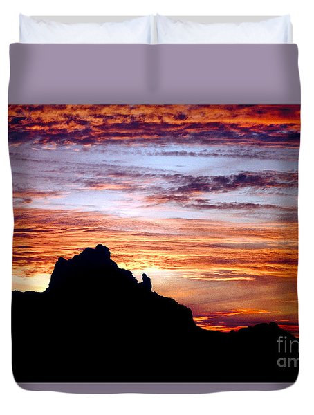 Praying Monk, Camelback Mountain, Phoenix Arizona Duvet Cover