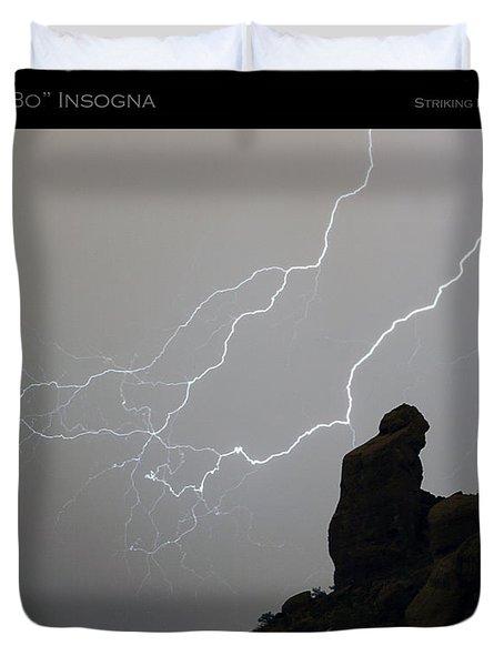 Praying Monk Lightning Striking Poster Print Duvet Cover by James BO  Insogna