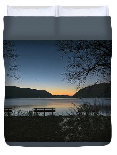 Dawn At Plum Point Duvet Cover