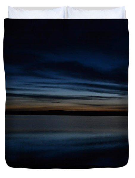 Pre-dawn's Glow Duvet Cover