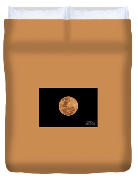 Post-penumbral Moon Duvet Cover by Venura Herath