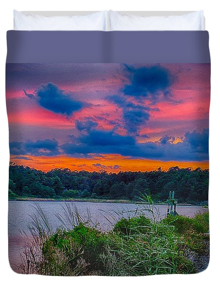 Pre-sunset At Hbsp Duvet Cover by Bill Barber