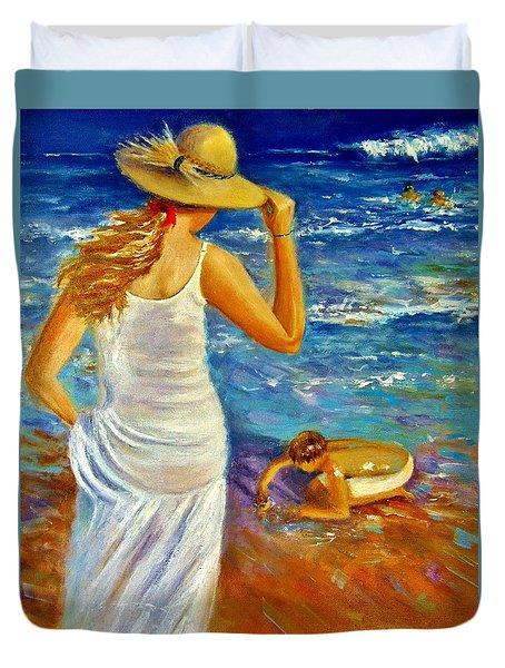 Precious Memories  Duvet Cover by Cristina Mihailescu