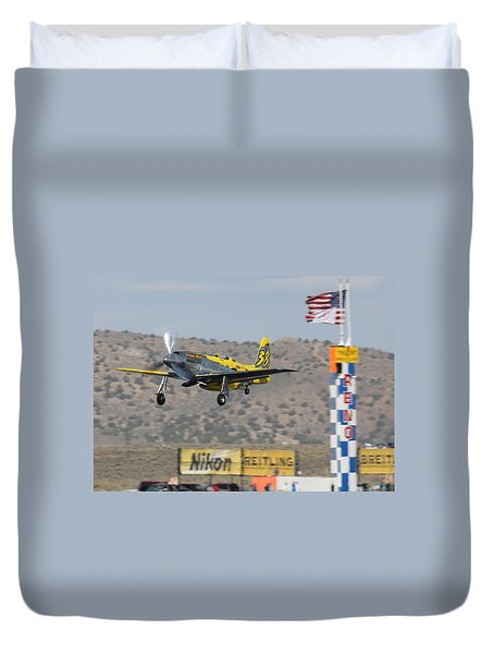 Duvet Cover featuring the photograph Precious Metal At Reno Air Races 2014 by John King