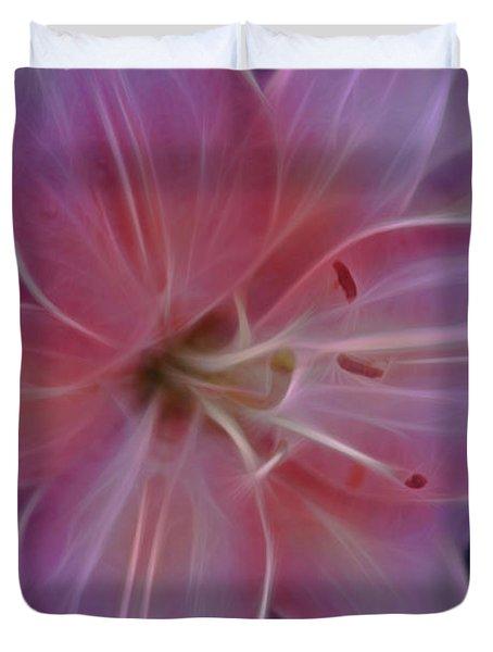 Precious Pink Lily Duvet Cover