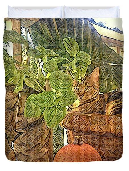 Precious Pumpkin Duvet Cover