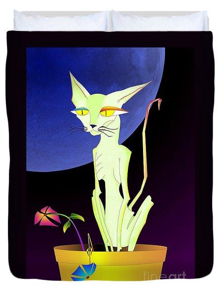 Precious The Cat Duvet Cover