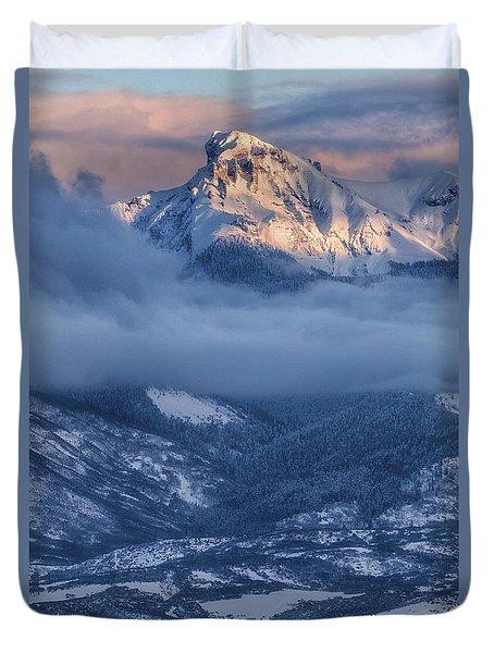Precipice Smiling Duvet Cover