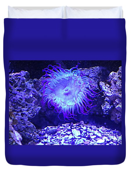 Predatory Terrestrial Sea Anemone Duvet Cover by Richard W Linford