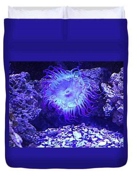 Predatory Terrestrial Sea Anemone Duvet Cover