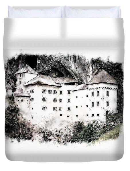 Predjama Castle Duvet Cover