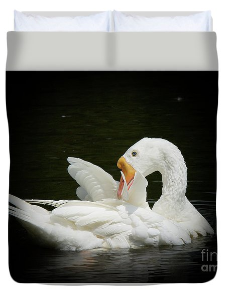 Preening Duvet Cover by Lisa L Silva