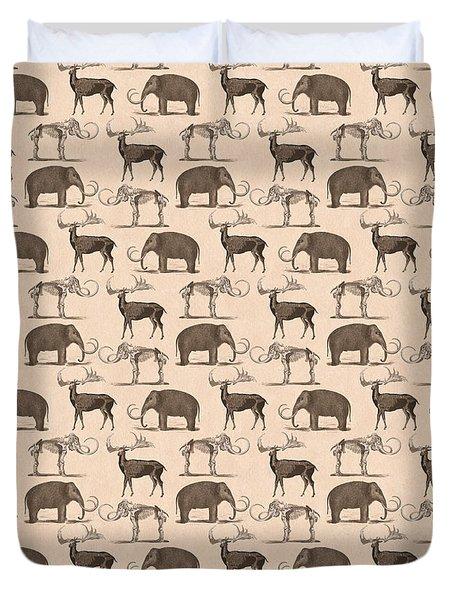Prehistoric Animals Duvet Cover