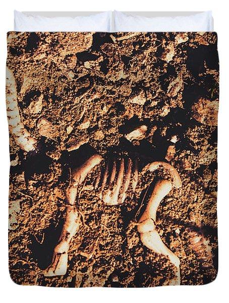 Prehistoric Diplodocus Bones Duvet Cover