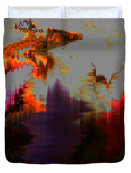 Prehistoric Duvet Cover by Lenore Senior