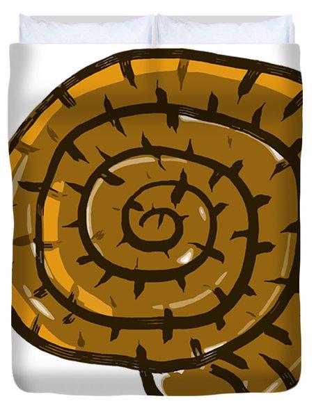 Prehistoric Shell Duvet Cover