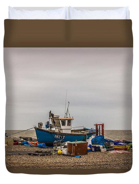 Preparing For The Sea Duvet Cover by David Warrington