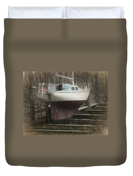 Preparing To Sail Duvet Cover